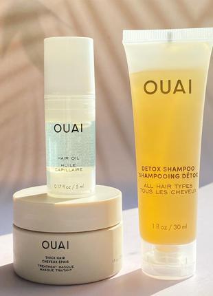 Набор для волос ouai шампунь, масло, маска