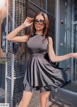 Черное платье с лямками накрест , платье с пышной юбкой , вечернее платье