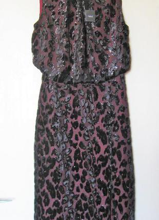 Вечернее платье с напуском шифон-велюр на чехле
