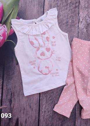 Літній костюм на дівчинку 1-4 роки