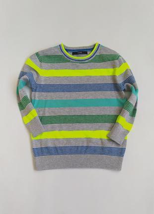 Яркий котоновый свитерок фирмы джорж на 4-5 лет