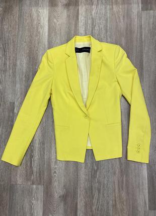 Пиджак zara/ желтый пиджак