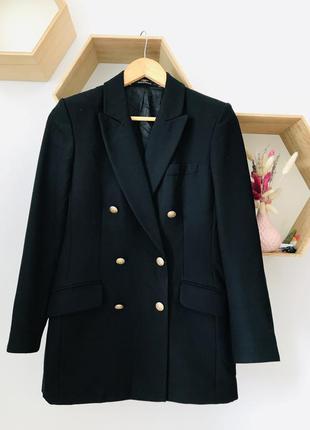 Черный пиджак тренд 2021 теплый пиджак