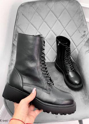 Ботинки эко-кожа черный деми