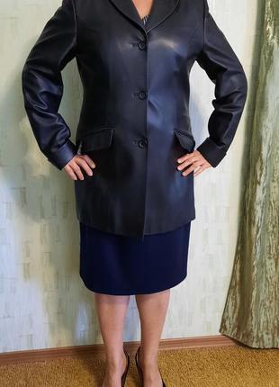 Женский кожаный пиджак - френч, разм. 50 - 52