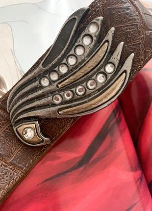 Кожаный винтажный ремень