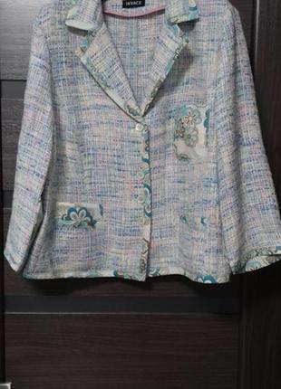 Пиджак жакет сюртук без подкладки 44