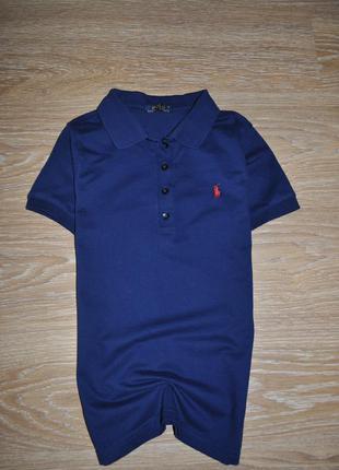 Стильное поло футболка ralph lauren на мальчика 9-10 лет