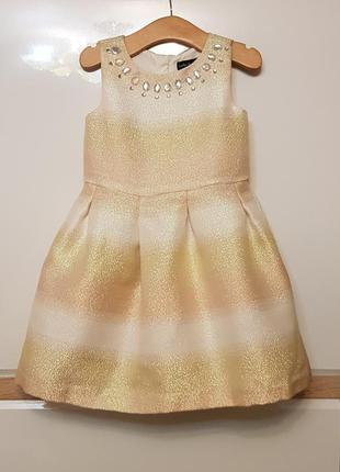 Святкове,нарядне золоте плаття на дівчинку 4-5р