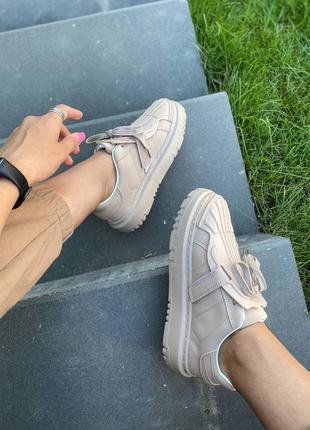 Стильные бежевые кроссовки кеды 🔥🔥🔥