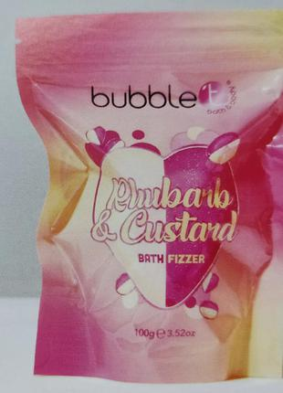 Бомбочка для ванн bubble t rhubarb & custard bath fizzer