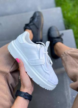 Стильные белые кроссовки кеды 🔥🔥🔥