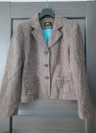 Пиджак сюртук полушерсть размер 18 per una