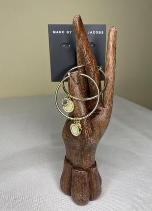 Сережки кольца  marc jacobs