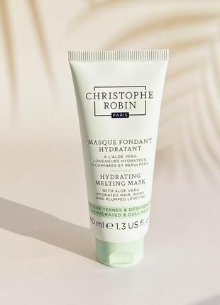 Маска для волос christophe robin hair mask aloe vera 40 мл
