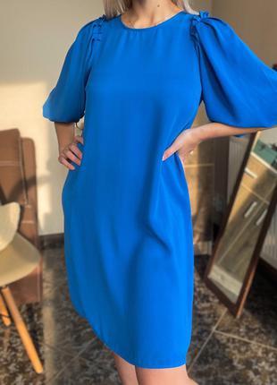 Платье с объемными рукавами zara