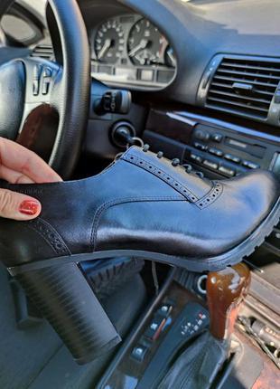 Шикарные туфли ботильоны ботинки geox respira натуральная кожа италия этикетка