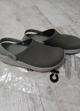 Мужские кроксы шлепанци crocs literide clog m10/w12-m9w10 43-44