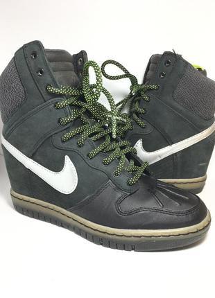 Оригинальные кожаные ботинки nike