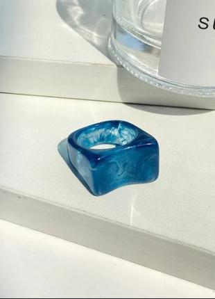 Геометрическое кольцо (5 цветов) синее