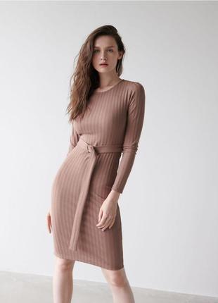 Платье в рубчик с поясом 🔥🔥🔥😍
