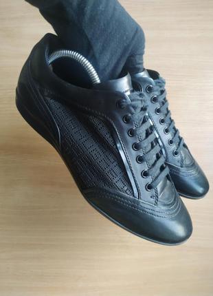 Брендовые кожаные туфли от hugo boss оригинал!