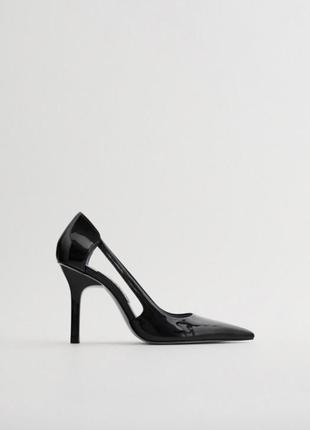Туфли на высоком каблуке оригинал zara