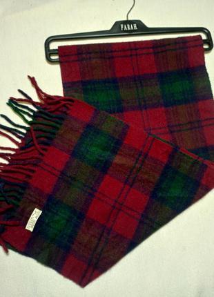 Клетчатый шарф с бахромой. шарф в клетку. шерстяной шарф