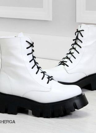 36-41 рр деми/зима ботинки на высокой подошве натуральная кожа/замша