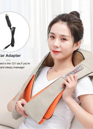 Роликовый массажер для спины шеи и плеч