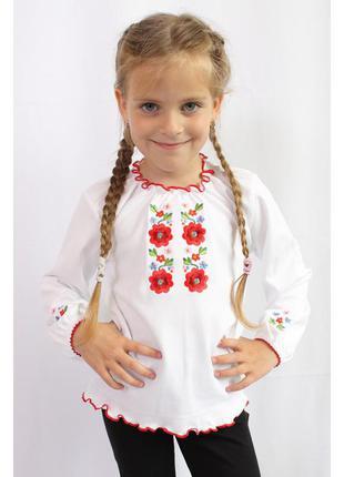 Вышиванка для девочки вишиванка для дівчинки на 100% бавовні (інтерлок) в асортименті