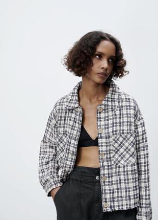 Куртка пиджак рубашка твидовая