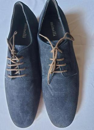 Брендовые туфли от minelli.италия 41 р. натуральная замша