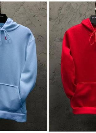 Парные худи dekka baza цвет голубой и красный
