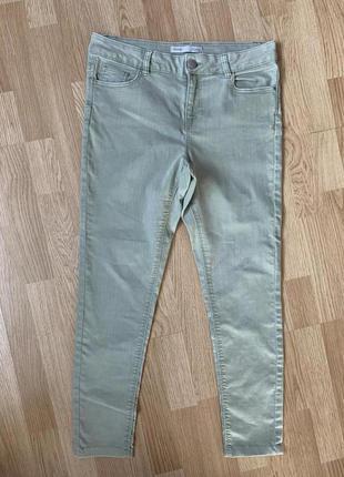 Стрейч котоновые брюки скины50р