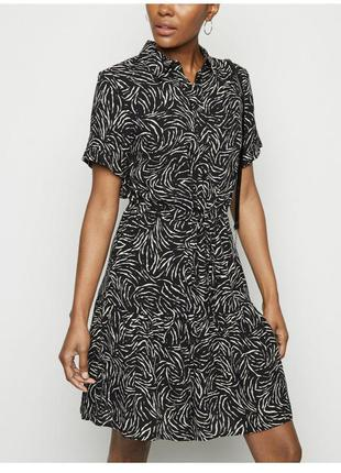 Вискозное платье рубашка