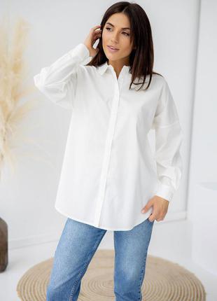 Удлиненная рубашка с супатной застёжкой