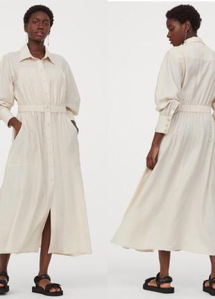 Роскошное платье рубашка от h&m .