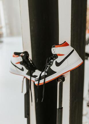 Мужские / женские кроссовки nike air jordan 1 retro high electro orange 💐