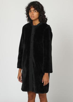 Новое пальто bimba y lola шуба оверсайз эффект велюра жакет куртка из искусственного меха