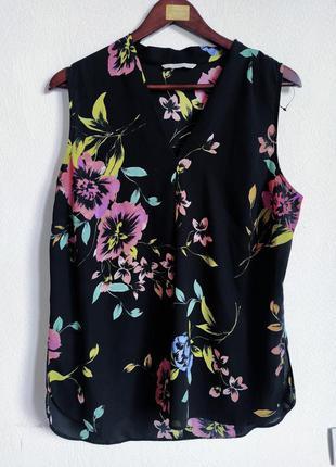Милая шифоновая блуза в цветочный принт