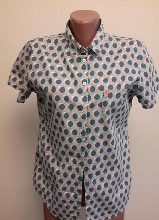 Рубашка приталенная с коротким рукавом marc o'polo