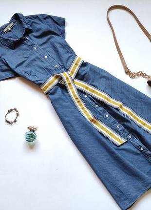 Джинсовое платье-рубашка миди boden