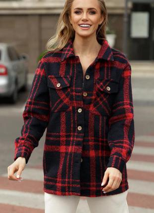 Кашемировая куртка рубашечного кроя