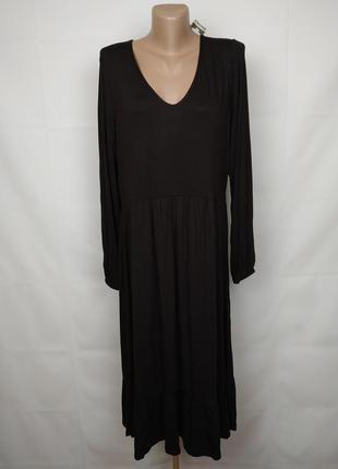 Платье новое трикотажное красивое коричневое boohoo uk 14/42/l
