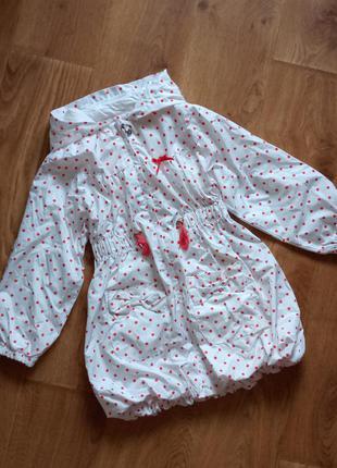 Плащ monna rosa ветровка для девочки на рост 128см. 8 лет