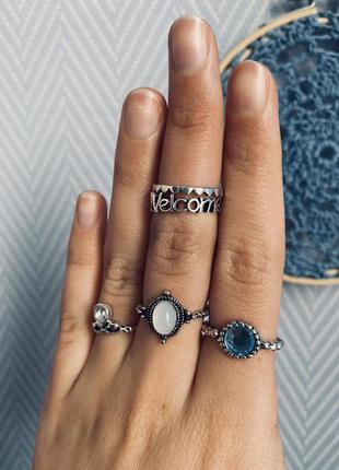 Набор колец 5 штук/ камни/ сердца/ кольца на фаланги/ большая распродажа!