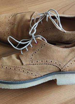 Мужские туфли натуральный замш на р.43 - 29см