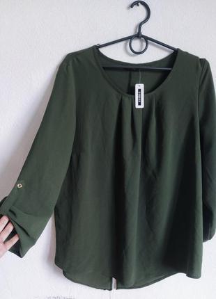 Шифоновая блуза со сборочкой