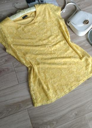 Футболка-блуза в солнечном цвете